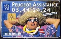 FRANCE  Peugeot Assistance Télécarte SO3 De  50 Unités   Tirage à 6k    De 07.1993 - Cars