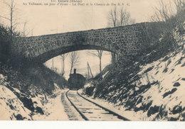 69 // COURS   Au Calissant, Un Jour D'hiver, Le Pont Et Le Chemin De Fer  S.V.C. - Cours-la-Ville