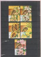 ROMANIA 2019 -  Melliferous Flowers With Honeybees - Set 5 Val + Labels  MNH - Api