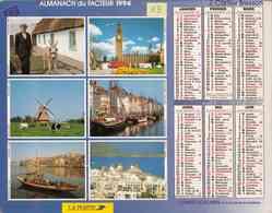 °° Calendrier Almanach La Poste 1994 Cartier Bresson - Dépt 13 - Vues Du Monde Entier - Calendriers