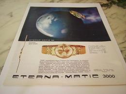 ANCIENNE PUBLICITE MONTRE ETERNA.MATIC 3000 1963 - Posters