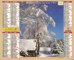 °° Calendrier Almanach La Poste 1997 Oberthur - Dépt 13 - Paysages De Montagne - Calendriers