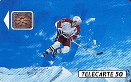 FRANCE  Télécarte   XVIème J.O. D' Hiver  Hockey Sur Glace  SC4 De 50 Unités De 10.1991 Tirage 4k. Ex. - Jeux Olympiques