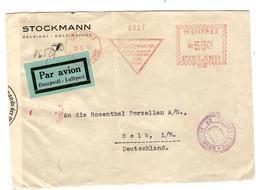 PR6586/ Finland Air Mail Cover Helsinki 15/5/41 C.mec.Suomi 550 402 Stockmann  To Deutschland Censored 'b' + Fin Censor - Cartas