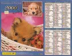 °° Calendrier Almanach La Poste 2000 Oller - Dépt 27 - Chiens - Calendriers