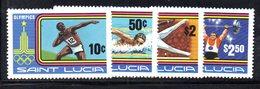 APR1561 - ST. LUCIA 1980 , Yvert Serie  N 506/509   ***  MNH MOSCA - St.Lucia (1979-...)