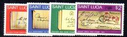 APR1562 - ST. LUCIA 1980 , Yvert Serie  N 481/484   ***  MNH LONDON - St.Lucia (1979-...)