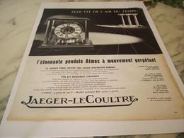 ANCIENNE PUBLICITE MONTRE JAEGER LE COULTRE  L AIR DU TEMP 1963 - Joyas & Relojería