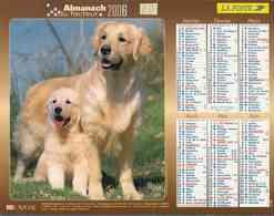 °° Calendrier Almanach La Poste 2006 Lavigne - Dépt 20 - Chiens - Calendars