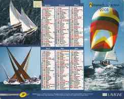 °° Calendrier Almanach La Poste 2008 Lavigne - Dépt 20 - Voiliers - Calendars