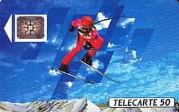 FRANCE  Télécarte   XVIème J.O. D' Hiver Ski Alpin   SC5 De 50 Unités De 12.1990 Tirage 500 000 Ex. - Jeux Olympiques