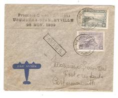 PR6587/ TP 92-96 S/L.Avion 1er Liaison Usumbura - Stanleyville 28/11/39 V.Costermansville C.d'arrivée - Ruanda-Urundi