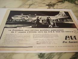 ANCIENNE PUBLICITE PAN AMERICAN   1956 - Advertisements