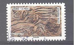France Autoadhésif Oblitéré (oeuvres De La Nature : Tronc D'arbre) (cachet Rond) - France