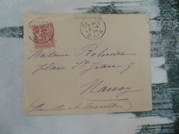 LETTRE DE FRANCE  -  TAMPON ALGERIE  -  ALGER ET BLIDA ?????? - 1877-1920: Semi Modern Period
