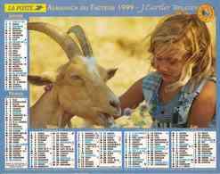 °° Calendrier Almanach La Poste 1999 Cartier-Bresson - Dépt 31 - Enfants Avec Animaux - Calendriers