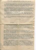 Discours Et Condition De Depart  Du Marechal Petain De Vichy Le 20 Aout 1944 3 Feuillets - Documenti Storici