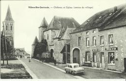 Villers - Ste - Gertrude -- Château Et Eglise.  (Centre Du Village)    (2 Scans) - Durbuy