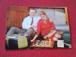 POSTAL POST CARD AJEDREZ CHESS Échecs SCHACH XADREZ GAME PARTIDA PLAYING MAN WOMAN PAREJA MATRIMONIO COUPLE VER FOTOS - Cartes Postales