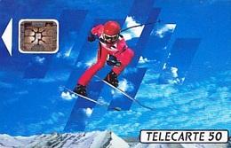 FRANCE  Télécarte   XVIème J.O. D' Hiver Ski Alpin   SC5 De 50 Unités De 04.1991 Tirage 4k Ex. - Olympische Spelen