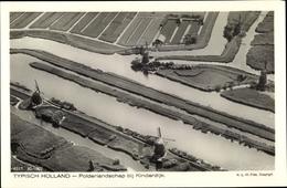Cp Kinderdijk Molenwaard Südholland Niederlande, Polderlandschap, Fliegeraufnahme - Pays-Bas