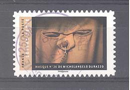 France Autoadhésif Oblitéré N°1404 (Masques) (cachet Rond) - Usati