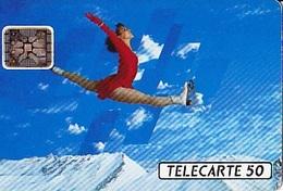 FRANCE  Télécarte   XVIème J.O. D' Hiver   Patinage    SC4 De 50 Unités De 06.1991 Tirage 4k Ex. - Jeux Olympiques