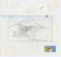 ST. VINCENT (1965) Friendship Beach. Two Pencil Sketches On Cartridge Paper. Ex Goaman Archive. Scott No 227 - St.Vincent (1979-...)