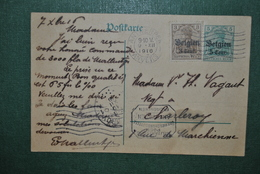 Belgique 1916 Carte Postale Censurée Mauvais état - Stamped Stationery