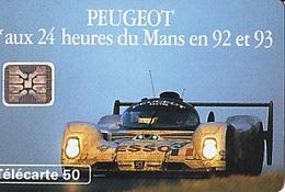 FRANCE Télécarte Peugeot 1er Aux 24 Heures Du Mans En 92 Et 93    SC5  Tirage 1.5k De 07.1993 - Sport