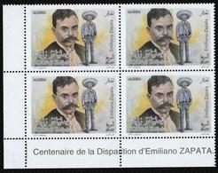 Année 2019-N°1841 Neuf**/MNH : Centenaire De La Disparition D'Emiliano ZAPATA - Bloc De 4  (3) - Algeria (1962-...)