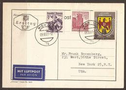 AUSTRIA. FIRST DAY / ERSTTAG AIR MAIL CARD. 1961. BURGENLAND. EAGLE. - FDC