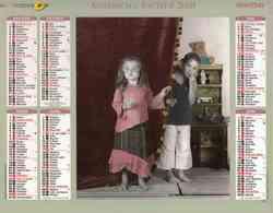°° Calendrier Almanach La Poste 2008 Oberthur - Dépt 31 - Enfants - Calendars