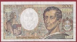 """200 Francs """"Montesquieu"""" 1992 ---F/TTB+----ALPH.B.123 - 1962-1997 ''Francs''"""