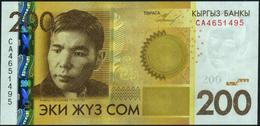 KYRGYZSTAN - 200 Som 2010 {Kyrgyz Banky} UNC P.27 A - Kirghizistan