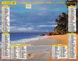 °° Calendrier Almanach La Poste 1998 Cartier Bresson - Dépt 33 - Plage Et Cascade - Calendriers