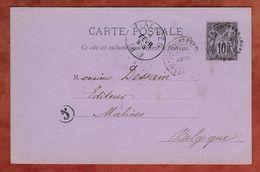P 8 Allegorie, Clermont-Ferrand Nach Malines 1889 (75654) - Postal Stamped Stationery