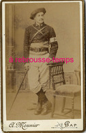 CDV Chasseur Alpin Personnel De Santé-brassard Croix Rouge-photo Mounier à Gap - Guerre, Militaire