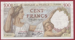 "100 Francs ""Sully"" Du 20/11/1941.TB.--F/TTB+---ALPH-P.26330---AUCUN TROU D EPINGLE - 1871-1952 Circulated During XXth"