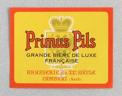 Ancienne Étiquette Bière, Brasserie Du XX Siecle Cambrai (Beer Label Bieretiketten) - Bière