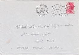 Lettre 1984 Machine SECAP Agence Postale Militaire 17 SAINTES AIR CHARENTE MARITIME Sur Liberté 2,10 - Postmark Collection (Covers)