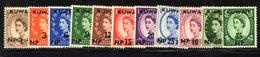 APR1583 - KUWAIT 1957 , Yvert N. 117/127  ***  MNH . Ordinaria Elisabetta - Kuwait