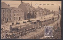 CPA Luxembourg, ESCH S/ALZ,  Rue D'Audun - Train à Vapeur - Esch-Alzette
