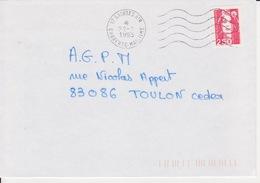Lettre 1993 Machine SECAP Agence Postale Militaire 17 SAINTES AIR CHARENTE MARITIME Sur Briat 2,50 - Postmark Collection (Covers)