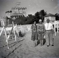 50s PRAIA BEACH PLAGE ESTORIL CASCAIS PORTUGAL 60/60mm AMATEUR NEGATIVE NOT PHOTO NEGATIVO NO FOTO - Other
