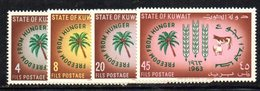 APR1586 - KUWAIT 1963 , Yvert N. 184/187  ***  MNH  Fame - Kuwait