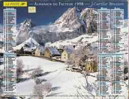 °° Calendrier Almanach La Poste 1998 Cartier Bresson - Dépt 47 - Paysages De Montagne - Calendriers