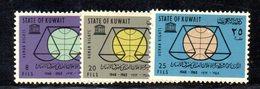 APR1590 - KUWAIT 1963 , Yvert N. 210/212  **  MNH - Kuwait