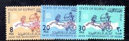 APR1591 - KUWAIT 1964 , Yvert N. 232/234  **  MNH  Nubia - Kuwait