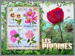 TOGO 2019 MNH Peonies Pfingstrosen Pivoines M/S - OFFICIAL ISSUE - DH1926 - Végétaux